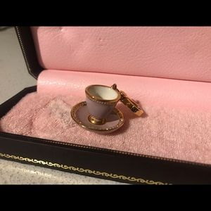 Juicy Couture pink and gold teacup charm
